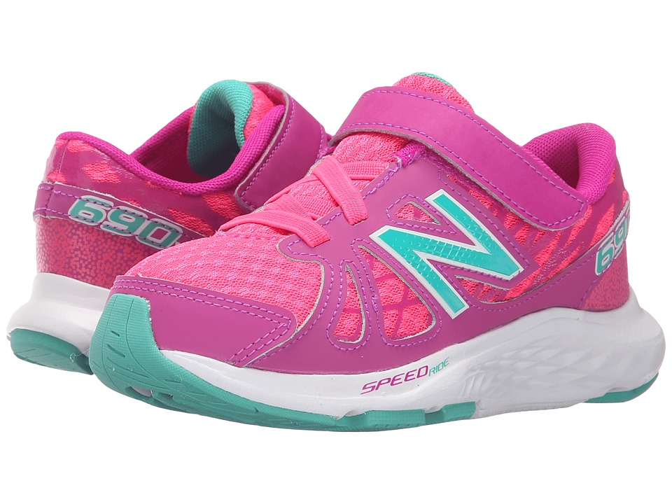 New Balance Kids - 690v4 (Little Kid) (Pink/Green) Girls Shoes