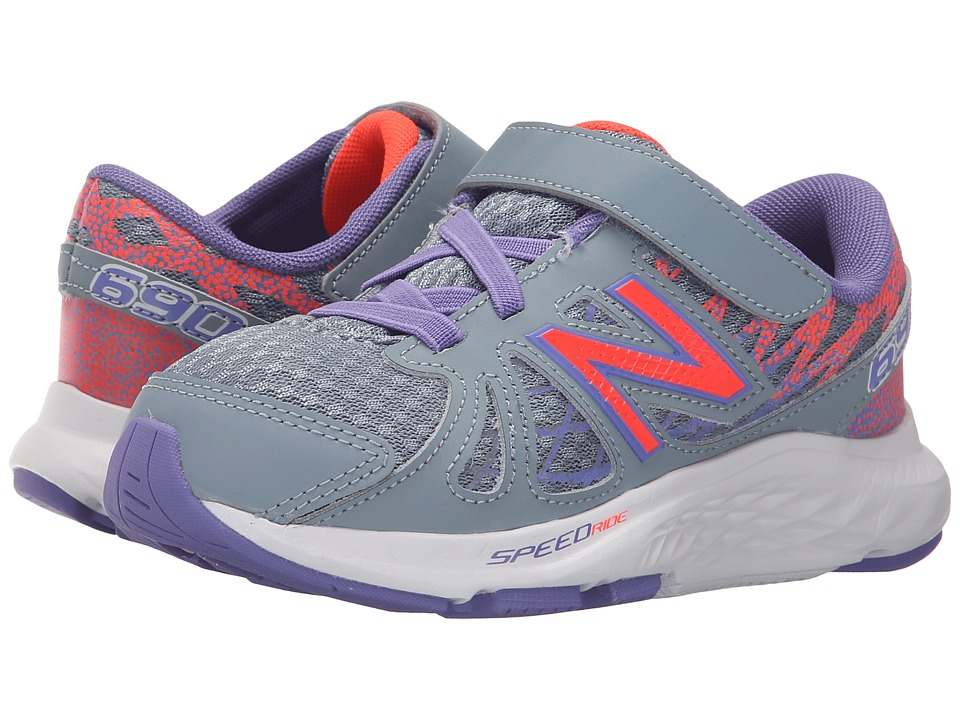 New Balance Kids - 690v4 (Little Kid) (Grey/Orange) Girls Shoes