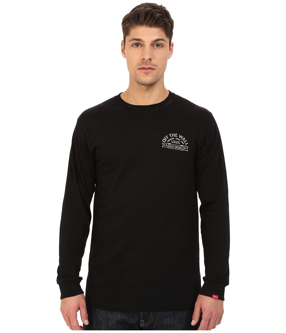 Vans - Bannered Long Sleeve Tee (Black) Men's T Shirt