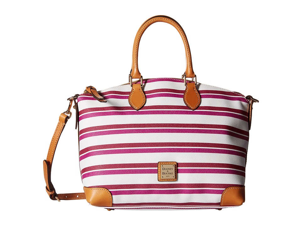 Dooney & Bourke - Stonington Satchel (Magenta/Orchid/White/Butterscotch) Satchel Handbags