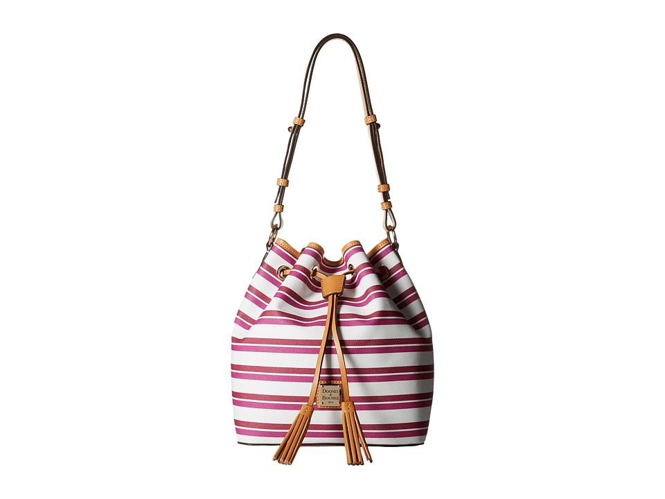 Dooney & Bourke - Stonington Kendall (Magenta/Orchid/White/Butterscotch) Handbags