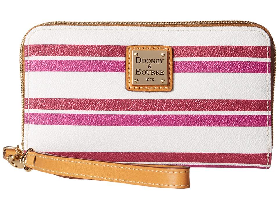 Dooney & Bourke - Stonington Zip Around Phone Wristlet (Magenta/Orchid/White/Butterscotch) Wristlet Handbags