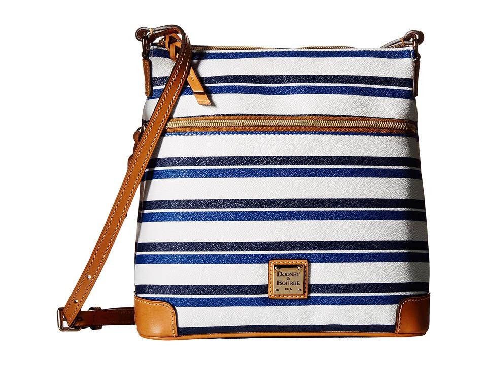 Dooney & Bourke - Stonington Crossbody (Blue/Navy/White/Butterscotch) Cross Body Handbags