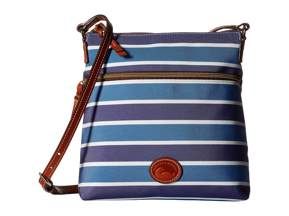 Dooney & Bourke - Eastham Crossbody (Blue/Navy/White/Tan Trim) Cross Body Handbags