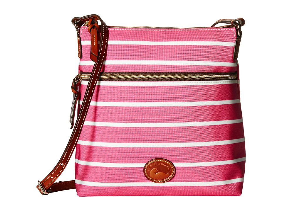 Dooney & Bourke - Eastham Crossbody (Hot Pink/Hot Pink/White/Tan Trim) Cross Body Handbags