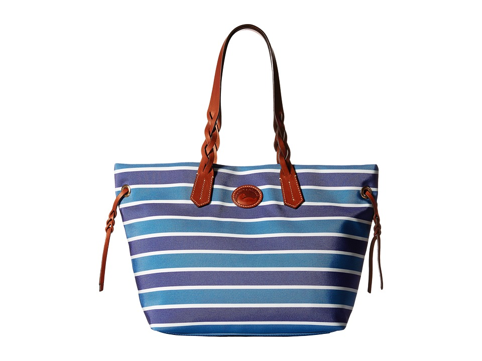 Dooney & Bourke - Eastham Shopper (Blue/Navy/White/Tan Trim) Tote Handbags