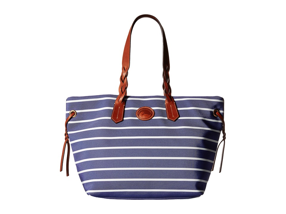 Dooney & Bourke - Eastham Shopper (Navy/Navy/White/Tan Trim) Tote Handbags