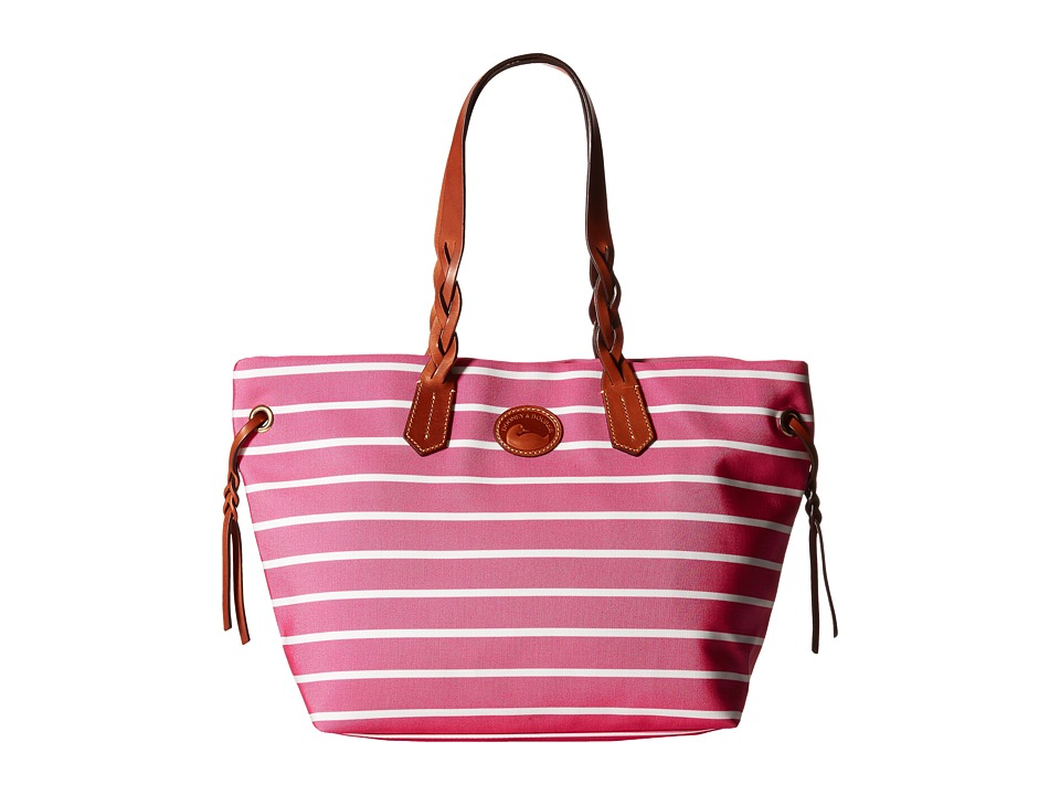 Dooney & Bourke - Eastham Shopper (Hot Pink/Hot Pink/White/Tan Trim) Tote Handbags