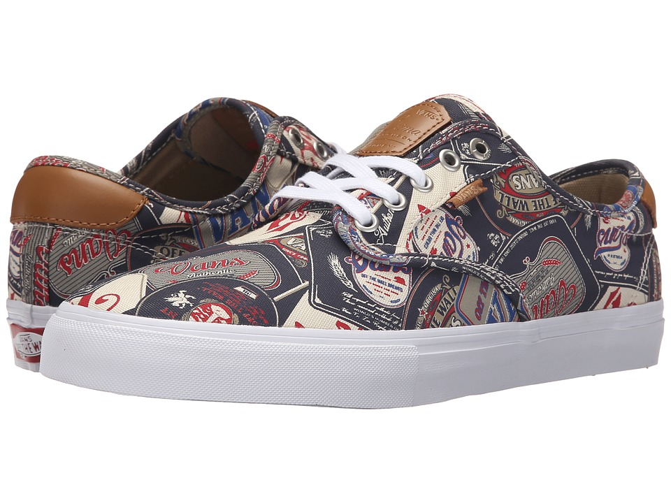 Vans - Chima Pro ((Labels) Navy/White) Men's Skate Shoes