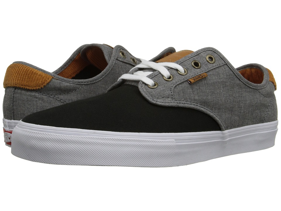 Vans - Chima Pro ((Cord) Black/Chambray) Men's Skate Shoes