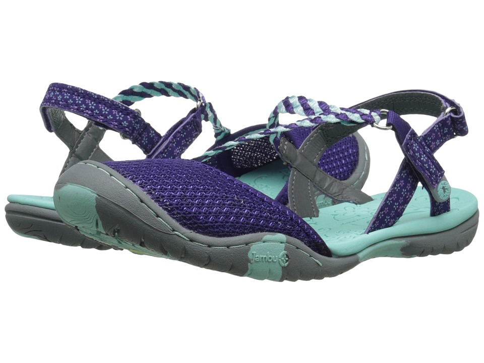Jambu Kids - Azalea 2 (Toddler/Little Kid/Big Kid) (Purple/Aqua) Girls Shoes