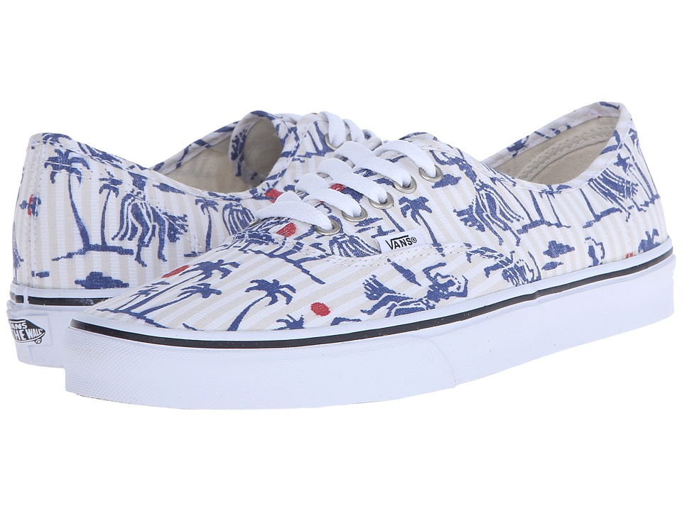Vans - Authentic ((Hula Stripes) True White) Skate Shoes
