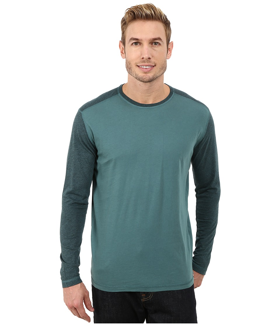 Agave Denim Long Sleeve Vee Streaky Jersey Color Block (Jasper) Men's Long Sleeve Pullover