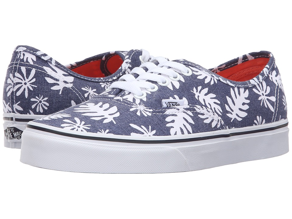 Vans - Authentic ((Washed Kelp) Navy/White) Skate Shoes