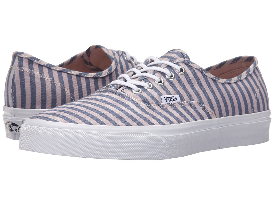 Vans - Authentic ((Stripes) Navy) Skate Shoes