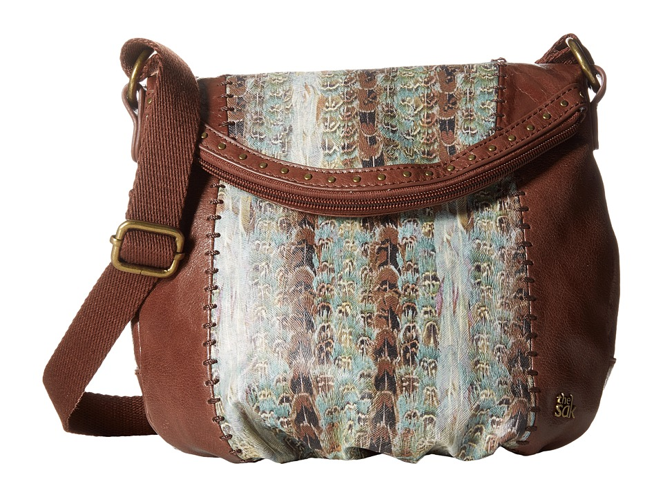 The Sak - Deena Crossbody Flap (Feather Stripe) Cross Body Handbags