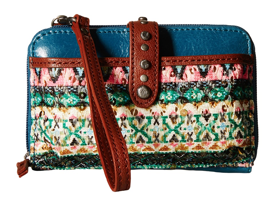 The Sak - Iris Smartphone Crossbody (Teal Tribal) Cross Body Handbags