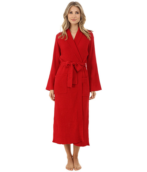 N by Natori - Rib Chenille Robe (Brick) Women
