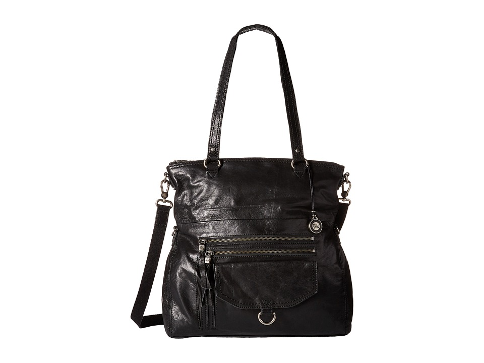 The Sak - Venata Foldover Tote (Black) Satchel Handbags
