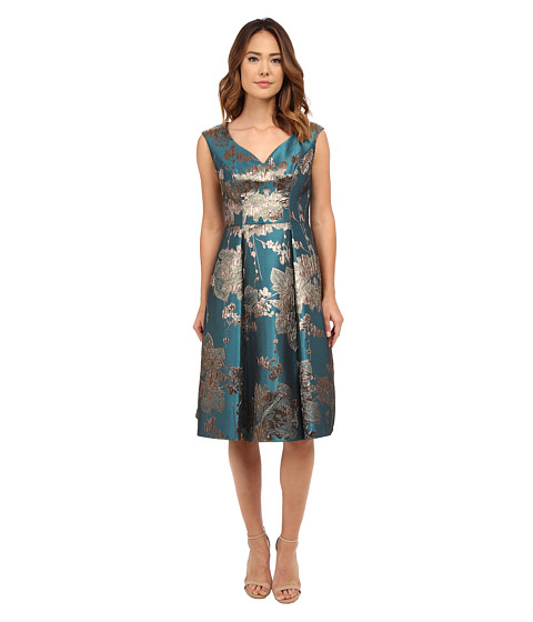Adrianna Papell - Mid Length Fit and Flare (Turquoise Multi) Women's Dress