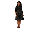 Adrianna Papell - Plus Size Taffeta Twofer Fit and Flare