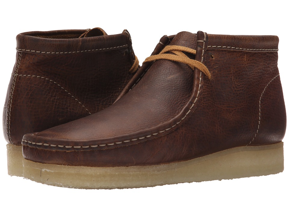 Clarks - Wallabee Boot (Bronze/Brown) Men's Lace-up Boots