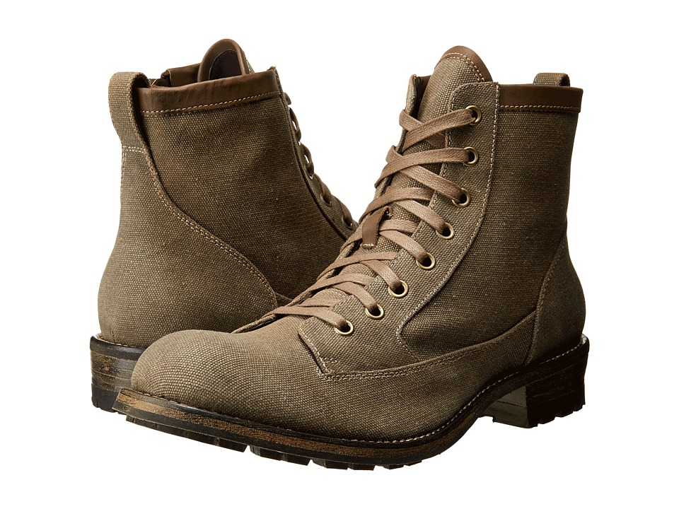 John Varvatos - Lincoln Utility Boot (Mocha) Men's Lace-up Boots