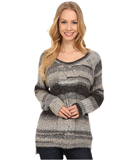 Calvin Klein Jeans - Ombre Cable Crew Neck Sweater (Newspaper Heather) Women's Sweater