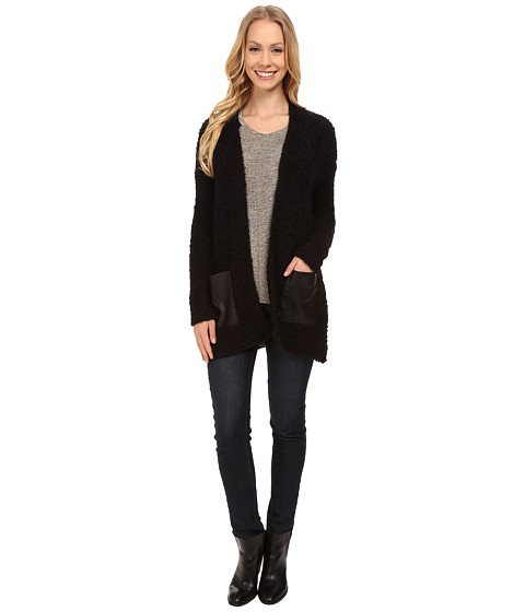 Calvin Klein Jeans - Eyelash Texture Cardigan (Black) Women's Sweater