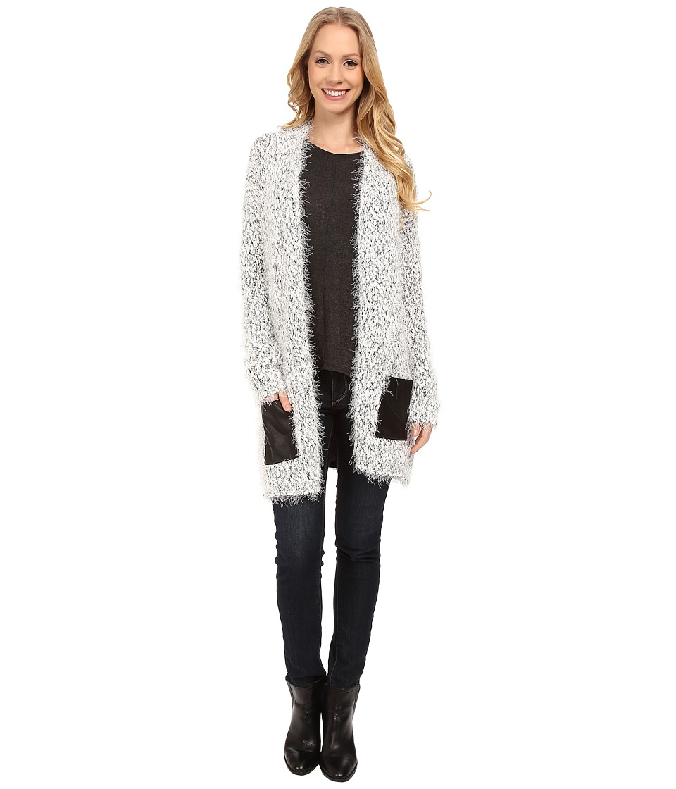 Calvin Klein Jeans - Two-Tone Eyelash Texture Cardigan (White) Women