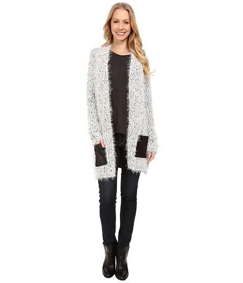 Calvin Klein Jeans - Two-Tone Eyelash Texture Cardigan (White) Women's Sweater