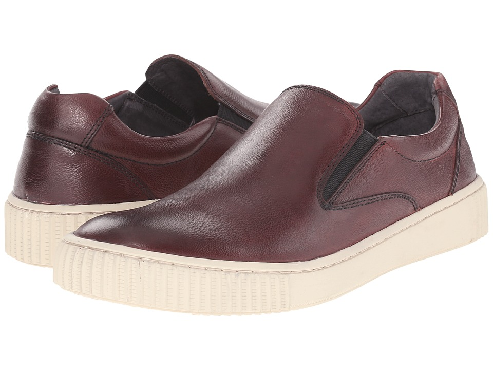 John Varvatos - Bedford Slip-On (Crimson) Men