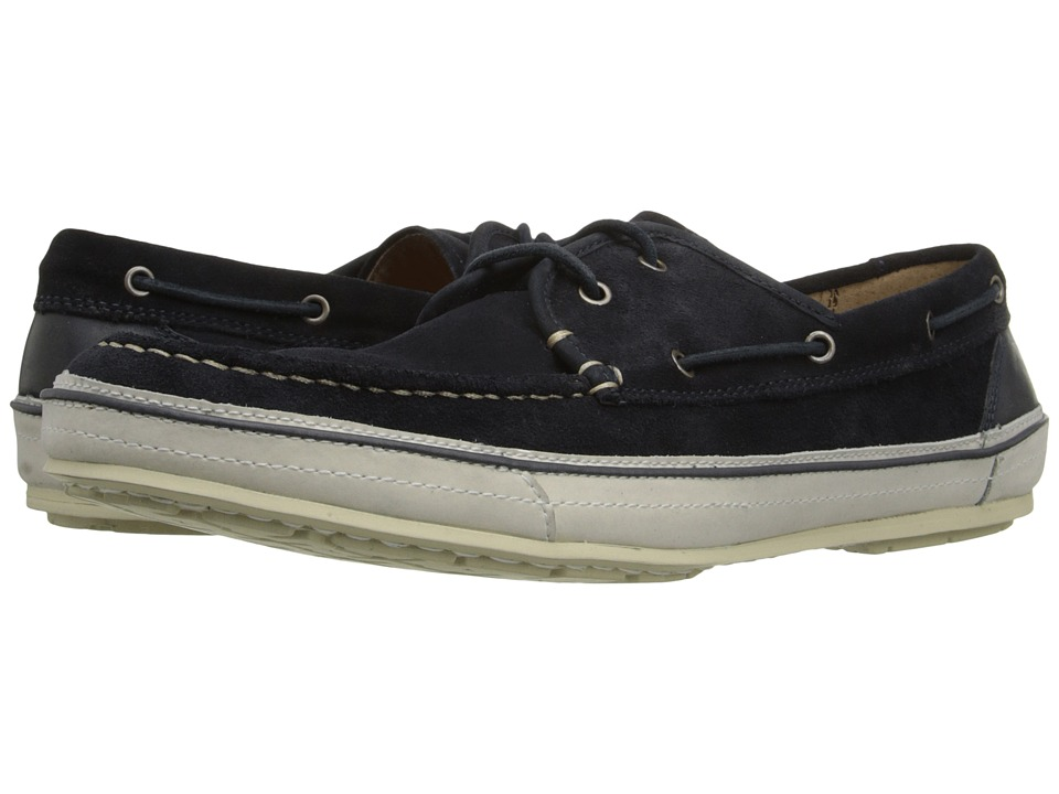 John Varvatos - Redding Boat Shoe (Midnight) Men's Slip on Shoes