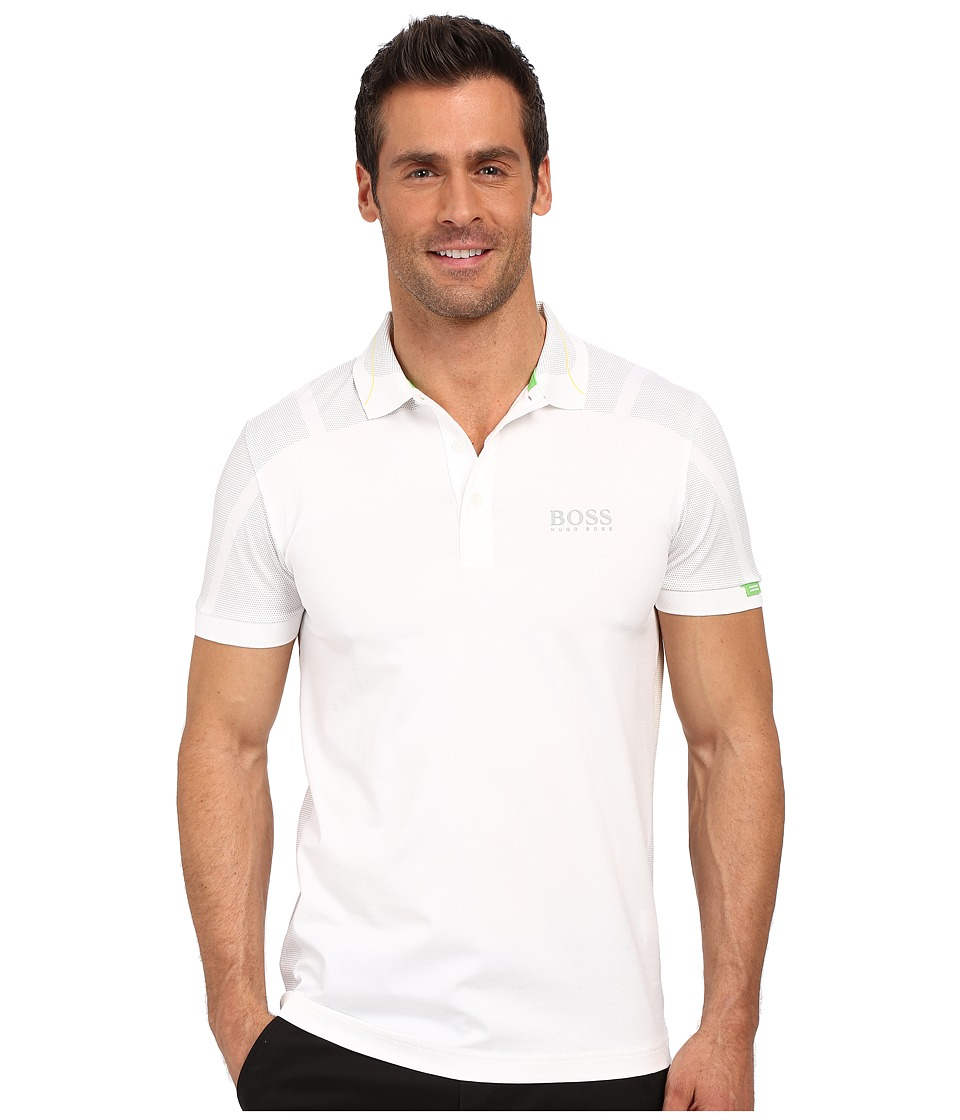 BOSS Green - Paddy MK 2 10159200 (White) Men's Short Sleeve Knit