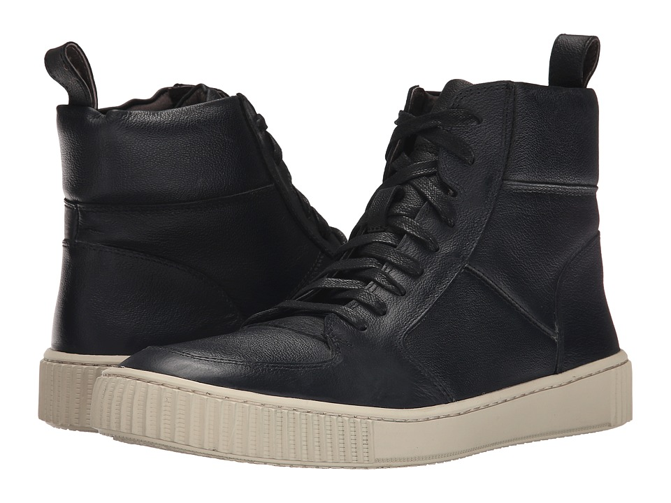 John Varvatos Bedford Hi Top (Mineral Black) Men