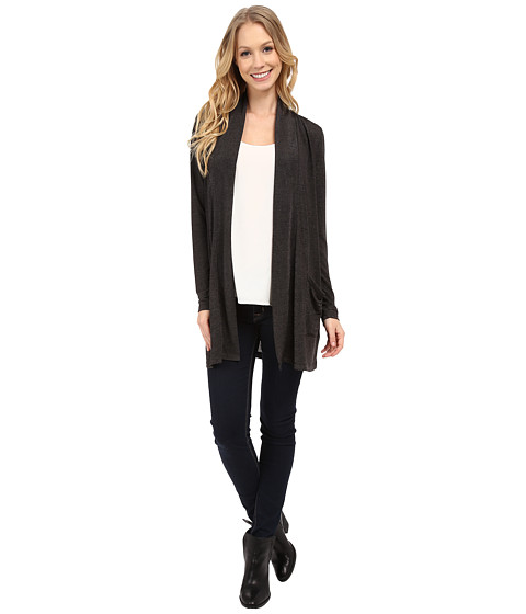 Calvin Klein Jeans - Downtown Cardigan (Dark Charcoal Heather) Women's Sweater