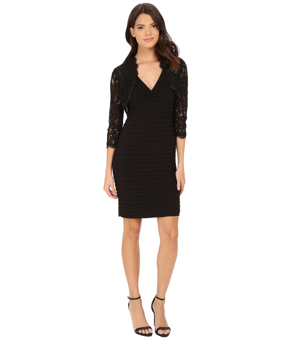 Adrianna Papell - Jacket and Dress Set (Black) Women's Dress