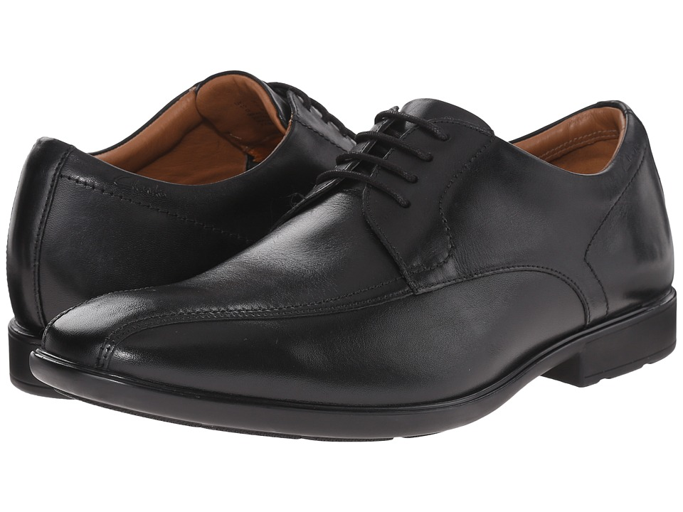 Clarks - Gosworth Over (Black Leather) Men's Lace Up Wing Tip Shoes