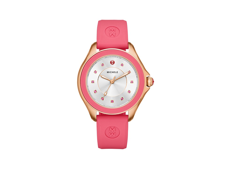 Michele - Cape Topaz Rose Gold Tone Coral (Rose Gold) Watches