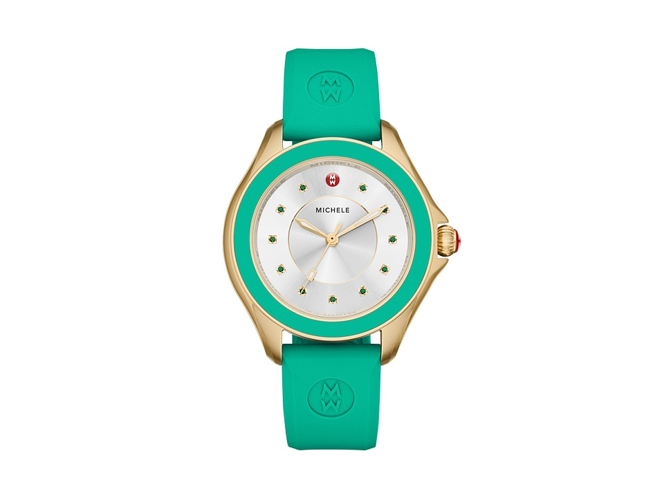 Michele - Cape Topaz Gold Tone Green (Gold) Watches