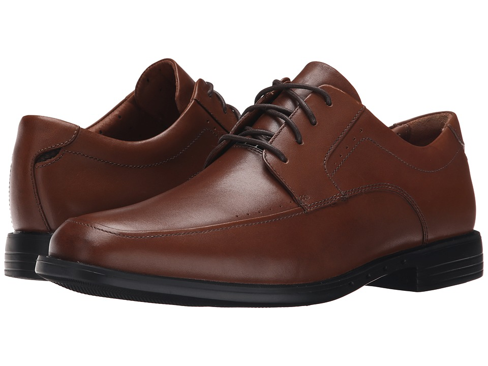 Clarks - Un.Bizley View (Tan Leather) Men's Lace Up Wing Tip Shoes
