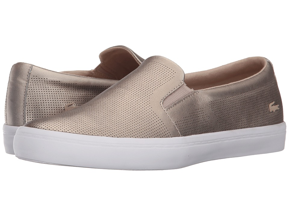 Lacoste Gazon Slip-On (Gold) Women