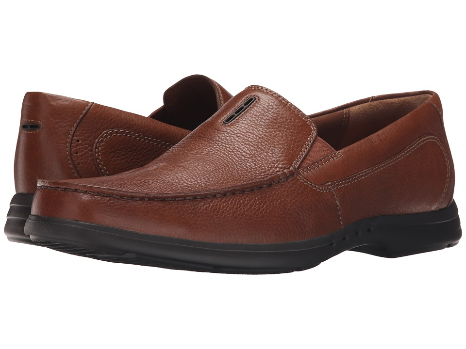 Clarks - Un.Easley Twin (Tan Leather) Men