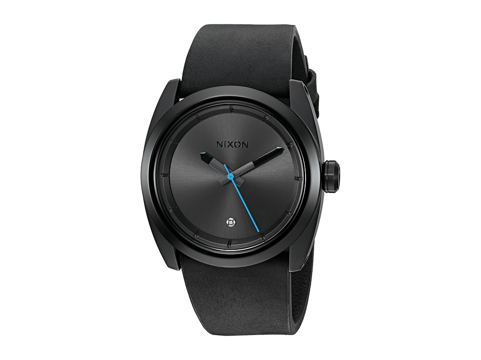 Nixon - Kingpin Leather (Black) Watches