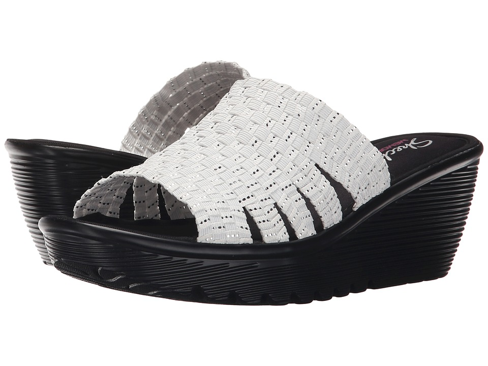 SKECHERS - Parallel Milk Honey (White/Silver) Women's Sandals