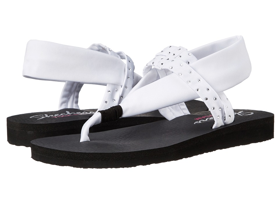 SKECHERS - Meditation - Shooting Star (White) Women's Sandals