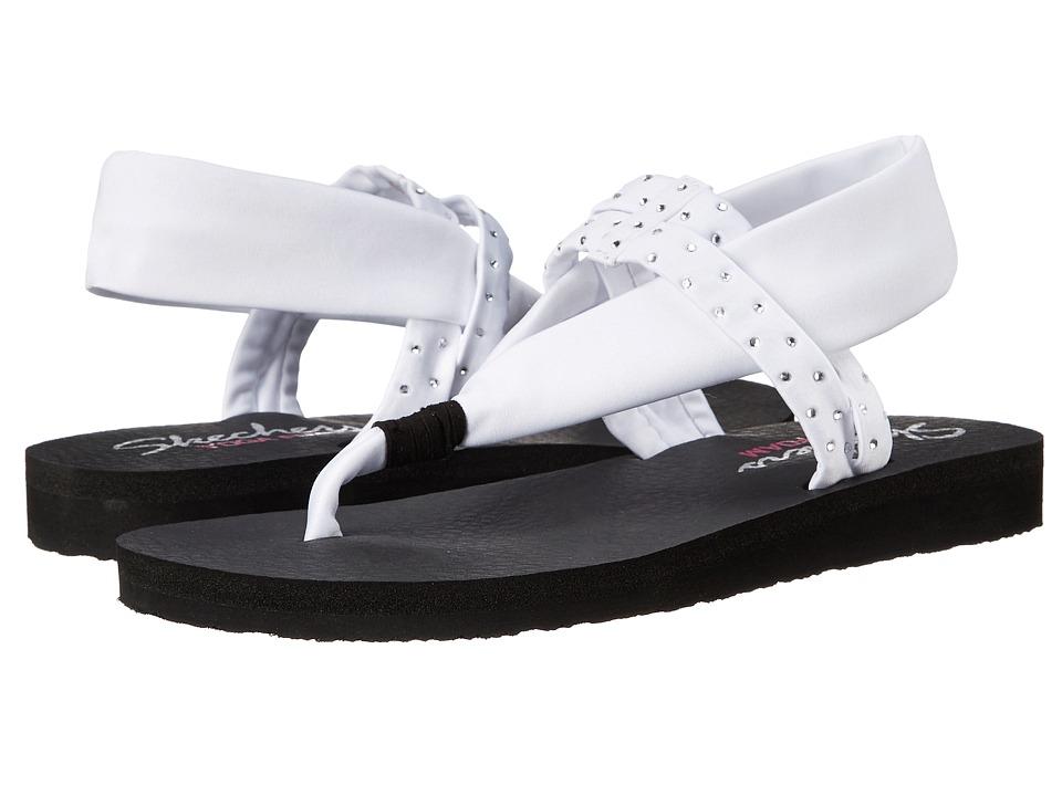 SKECHERS - Meditation - Shooting Star (White) Women's Sandals