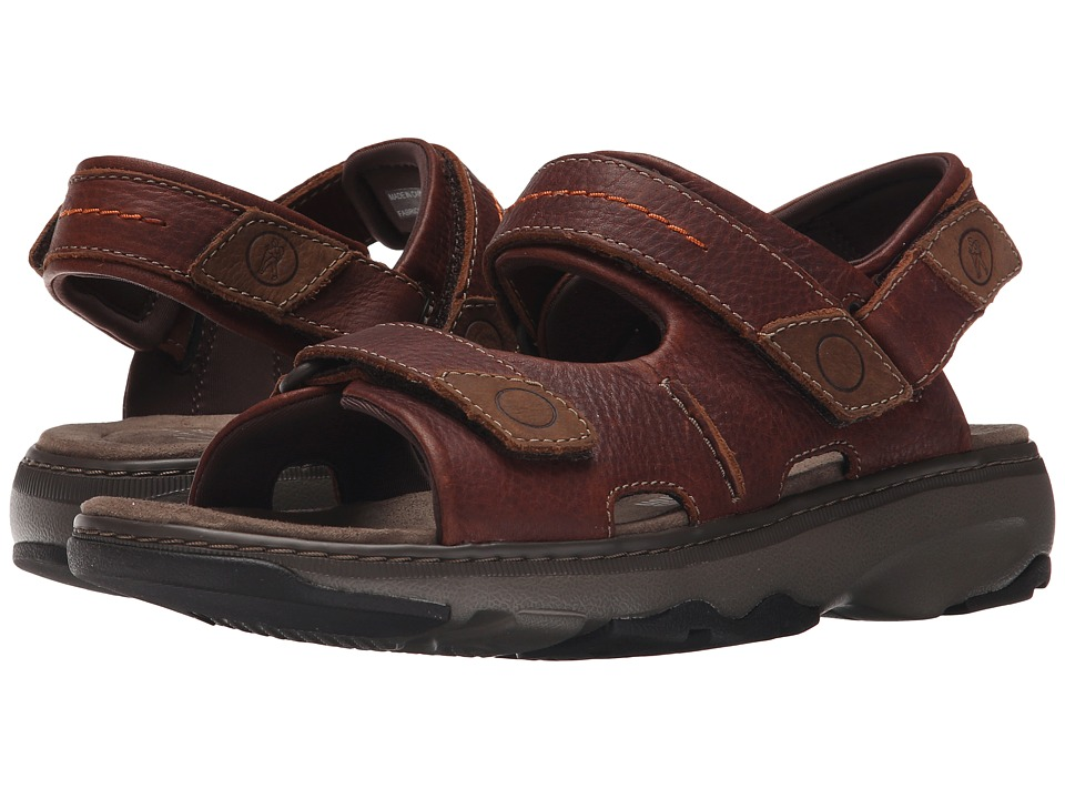 Clarks - Raffe Coast (Brown Leather) Men's Sandals