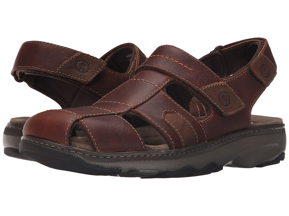 Clarks - Raffe Bay (Brown Leather) Men's Sandals
