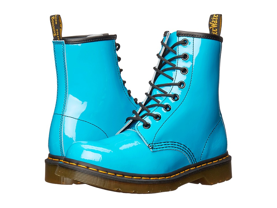 Dr. Martens - 1460 W (Sunny Blue Patent Lamper) Women's Lace-up Boots